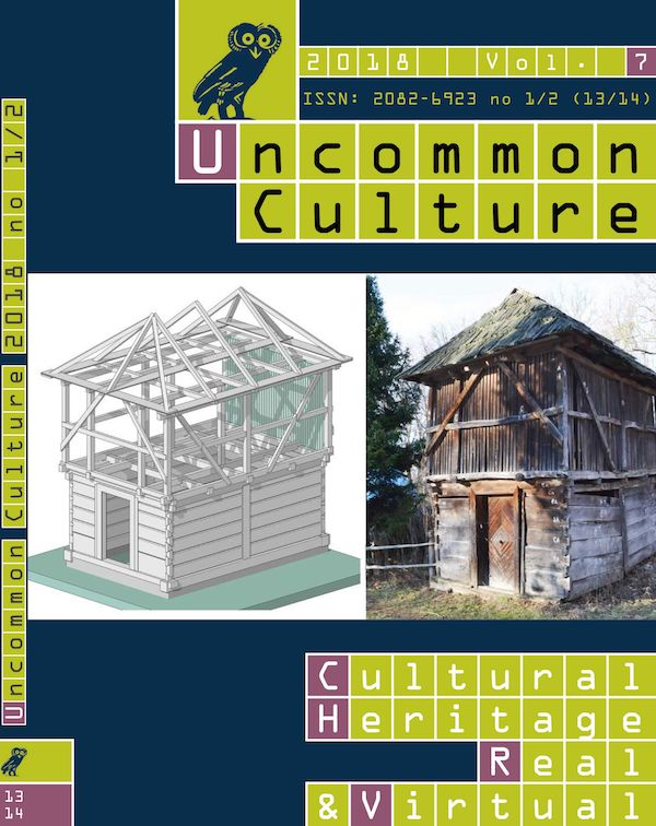View Vol. 7, no. 1/2 (13/14) (2018): Cultural Heritage, Real & Virtual